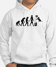 evolution of man female veterinarian Hoodie
