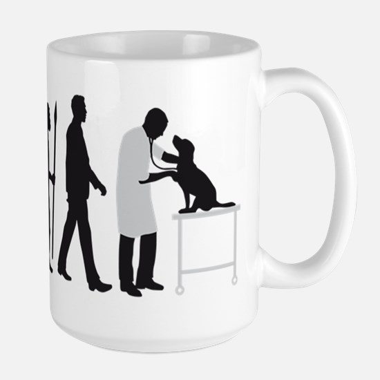 evolution of man veterinarian Mugs