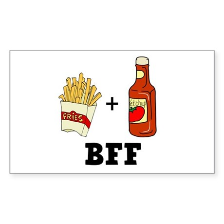 Ketchup & French Fries BFF Rectangle Sticker