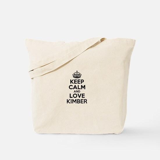 Keep Calm and Love KIMBER Tote Bag