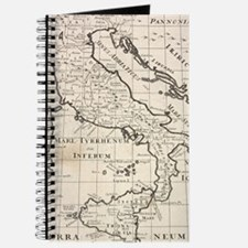 Vintage Map of Italy (1700) Journal