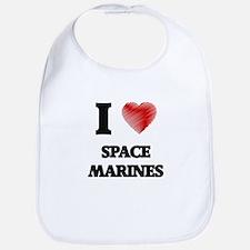 I Love Space Marines Bib