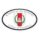 Blaiddwyn Oval Sticker