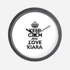 Keep Calm and Love KIARA Wall Clock