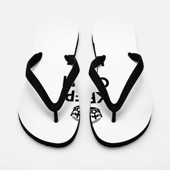 Keep Calm and Love KIA Flip Flops