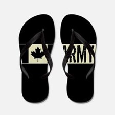 Canadian Military: Army (Black Flag) Flip Flops