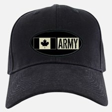 Canadian Military: Army (Black Flag) Baseball Hat