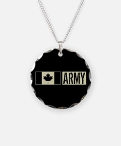 Canadian Military: Army (Bla Necklace