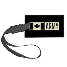 Canadian Army: Black Deployment Luggage Tag