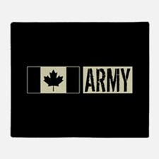 Canadian Military: Army (Black Flag) Throw Blanket