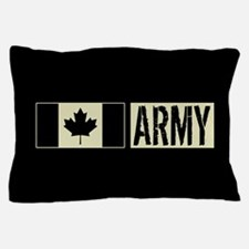 Canadian Military: Army (Black Flag) Pillow Case