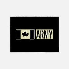 Canadian Military: Army (Black Flag 5'x7'Area Rug