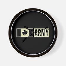 Canadian Military: Army (Black Flag) Wall Clock