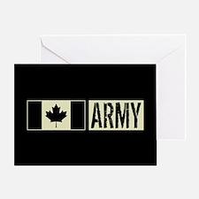 Canadian Military: Army (Black Flag) Greeting Card