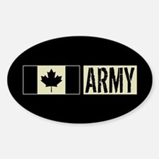 Canadian Military: Army (Black Flag Decal