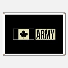 Canadian Military: Army (Black Flag) Banner