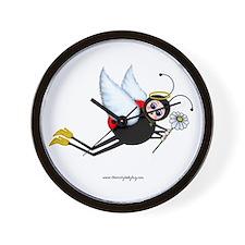 Ladybug Daisy Angel Wall Clock