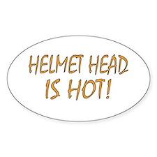 Hot Helmet Head Oval Decal