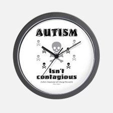 Autism isn't contagious! Wall Clock