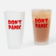 Dont Panic Hitchhikikers Drinking Glass