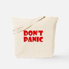 Dont Panic Hitchhikikers Tote Bag