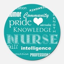 Nurse Pride Attributes-White Round Car Magnet