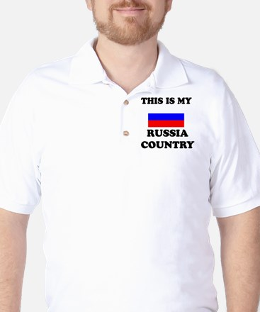 This Is My Russia Country Golf Shirt