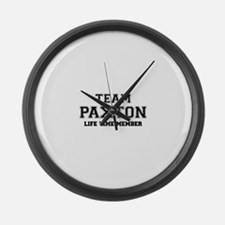 Team PAXTON, life time member Large Wall Clock