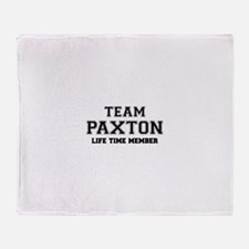 Team PAXTON, life time member Throw Blanket