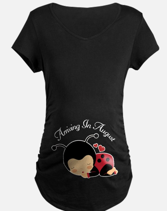 August Due Date Pregnancy Maternity T-Shirt