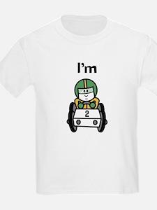 I'm 2 Racing Car Kids T-Shirt