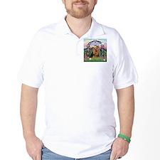 Rose Arbor & Yorkie #7 T-Shirt