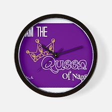 Queen of naps Wall Clock