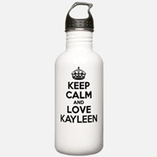 Keep Calm and Love KAY Water Bottle