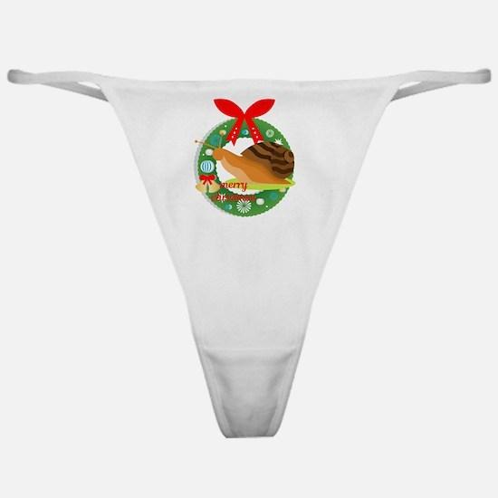 merry christmas snail Classic Thong