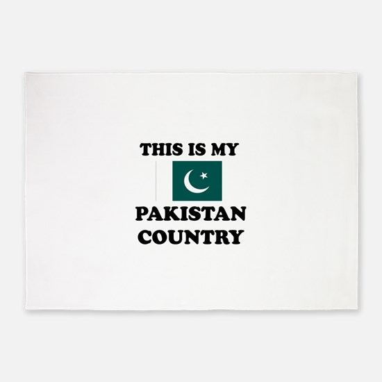 This Is My Pakistan Country 5'x7'Area Rug