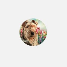Airedale Painting Mini Button