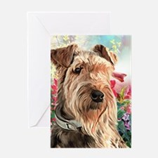 Airedale Painting Greeting Cards
