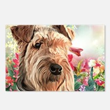 Airedale Painting Postcards (Package of 8)