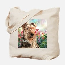 Airedale Painting Tote Bag