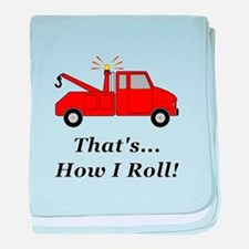 Tow Truck How I Roll baby blanket