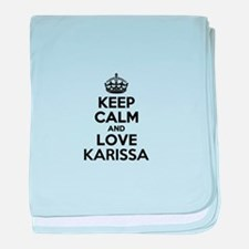 Keep Calm and Love KARISSA baby blanket