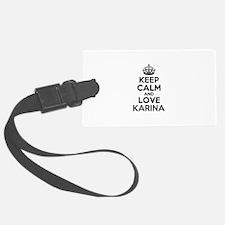 Keep Calm and Love KARINA Luggage Tag