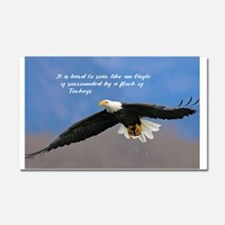 Soar Like an Eagle… if you Can Car Magnet 20 x 12