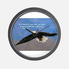 Soar Like an Eagle… if you Can Wall Clock