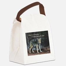 Menacing Wolf in the Woods Lead the Pack Canvas Lu