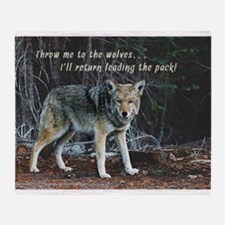 Menacing Wolf in the Woods Lead the Pack Throw Bla