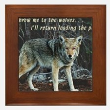 Menacing Wolf in the Woods Lead the Pack Framed Ti