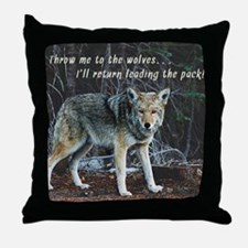 Menacing Wolf in the Woods Lead the Pack Throw Pil