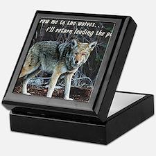 Menacing Wolf in the Woods Lead the Pack Keepsake